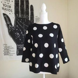 NWT Cynthia Rowley Polka Dot Sweater